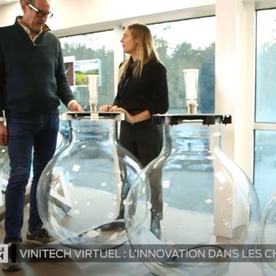 TV7 Bordeaux à la découverte de notre cuve en verre Wineglobe