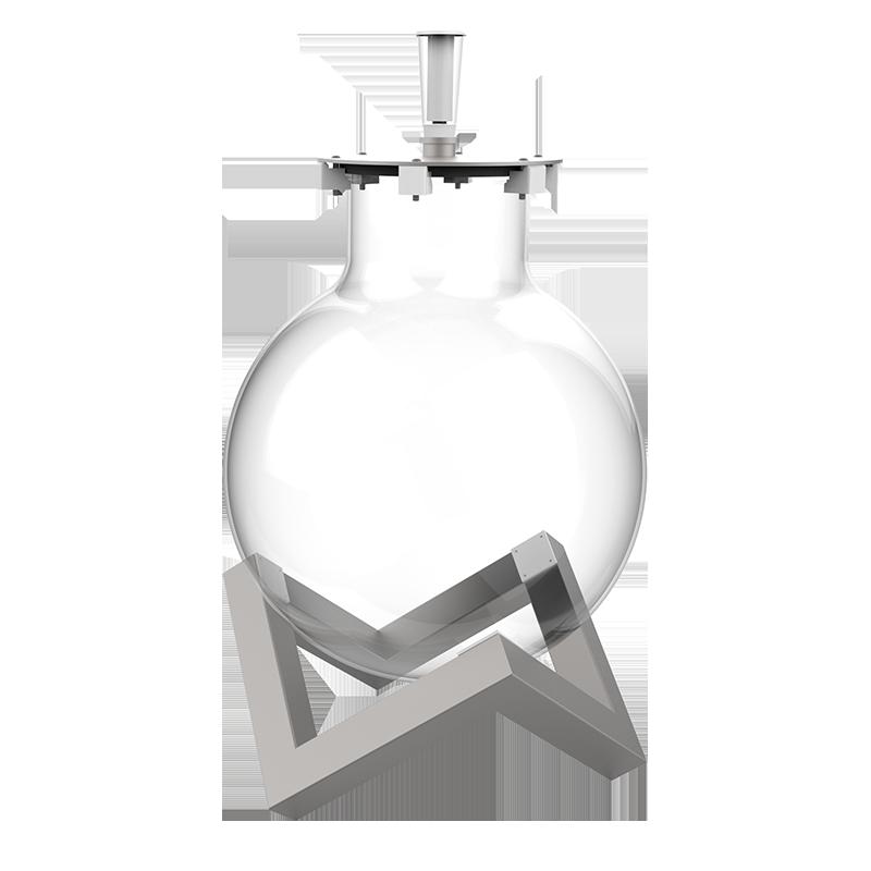 Zoom sur le socle de notre contenant en verre pour le vin