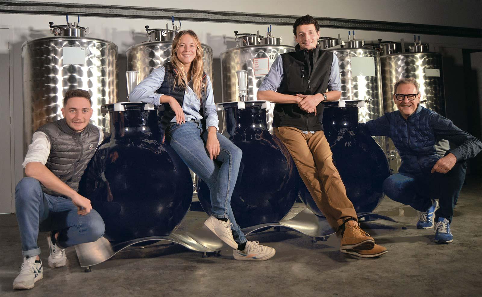 Famille Paetzold, créateur des cuves en verre